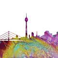 Dusseldorf Skyline 3 by Erzebet S