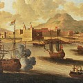Dutch And English Warships by Pieter