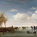 Dutch Landscape With Skaters by Salomon van Ruysdael