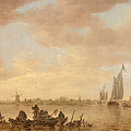 Dutch Seascape With Fishings Boats by Celestial Images