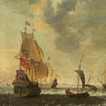 Dutch Ships In A Lively Breeze by Jacob Adriaensz Bellevois
