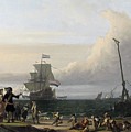 Dutch Ships In The Roads Of Texel by Ludolf Bakhuysen