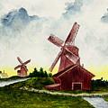 Dutch Windmills by Michael Vigliotti
