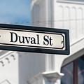 Duval Street In Key West by David A Litman