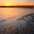 Duxbury Beach Powder Point Bridge Sunset by John Burk