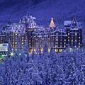 D.wiggett Banff Springs Hotel In Winter by First Light