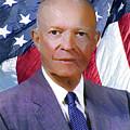 Dwight D. Eisenhower Portrait - Dwp019024007 by Dean Wittle