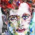 Dylan Thomas - Watercolor Portrait.5 by Fabrizio Cassetta