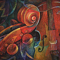 Dynamic Duo - Cello And Scroll by Susanne Clark