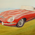 E-type Jaguar by David Godbolt