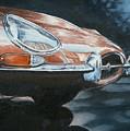 E-type Jaguar by Pauline Sharp