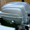 Vintage Silver Outboard Boat Motor by David Lee Thompson