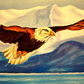 Eagle And Mountains by Jay Johnston