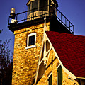 Eagle Bluff Lighthouse Of Door County by Mark David Zahn