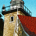 Eagle Bluff Lighthouse Re-imagined by David T Wilkinson
