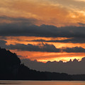 Eagle Bluff Sunset by David T Wilkinson
