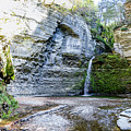 Eagle Cliff Falls Panorama by William Norton