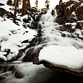 Eagle Falls Raging On Ice by Mike Herron