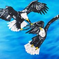 Eagle Fight by Valerie Ornstein