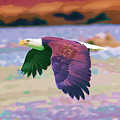 Eagle In Air by Clarence Alford