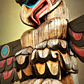 Eagle Totem Pole - Freedom Of Spirit by Peggy Collins