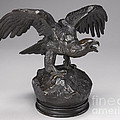 Eagle With Wings Outstretched And Open Beak by Antoine-louis Barye