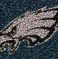 Eagles Bottle Cap Mosaic by Paul Van Scott