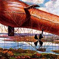 Early 1900s Military Airship by Peter Gumaer Ogden