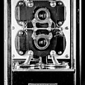 Early 1900s Type Cs Watthour Meter In Black And White by Larry Jost