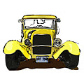 Early 1930s Ford Yellow by Eduardo Tavares