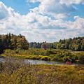 Early Autumn At The Tobie Trail Bridge by David Patterson