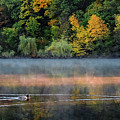 Early Autumn Morning At Longfellow Pond by Robert Mitchell