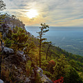 Early Autumn On Pilot Mountain by Michael Scott