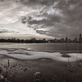 Early Evening Central Park In Winter by Robert Ullmann