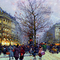 Early Evening On The Boulevards Paris by Isabella Howard
