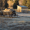 Early Farm Wagon by Michael Mullennix