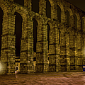 Early Morning At The Aqueduct Of Segovia by Joan Carroll