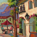 Early Morning Coffee At Old Town La Quinta by Diane McClary