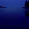 Early Morning Mist Over Lynx Lake In Northern Saskatchewan by Mark Duffy
