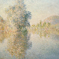 Early Morning On The Seine At Giverny by Claude Monet