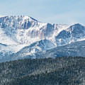 Early Morning Snow On Pikes Peak by Steve Krull