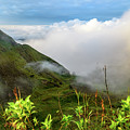 Early Morning Sunrise Clouds Over The Caldera At Mount Batur Volcano In Bali by Global Light Photography - Nicole Leffer