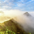 Early Morning Sunrise Over The Caldera At Mount Batur Volcano In Bali by Global Light Photography - Nicole Leffer