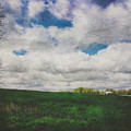 Early Spring Kansas Countryside With Barn by Anna Louise