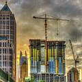 Early Start Skyscraper Construction Atlanta Georgia Art by Reid Callaway
