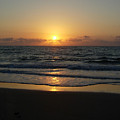 Early Sunrise  Atlantic Ocean by Stephanie  H Johnson