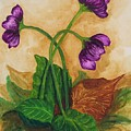 Early Violets by Yvonne Kinney