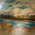 Early Winter Mountain Range by Debra Lynch