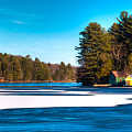 Early Winter On Old Forge Pond by David Patterson