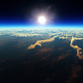 Earth Sunrise From Outer Space by Johan Swanepoel